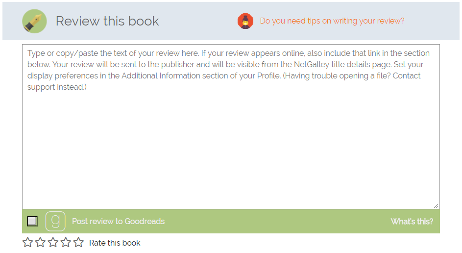 How do I post my review directly to Goodreads? – NetGalley
